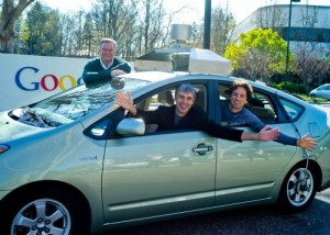 From left, Google Chairman Eric Schmidt, CEO Larry Page, and co-founder Sergey Brin in 2011. (Credit: Google)